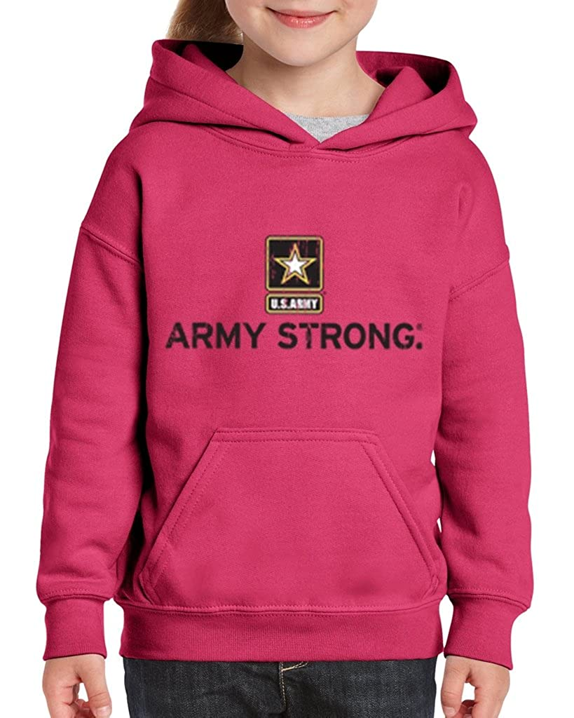 Youth US Army strong Red kids Sweatshirt Hoodie