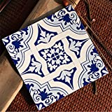 yazi Waterproof Wall Sticker Tile Decal Anti-Oil Stain Kitchen Decoration 8x8 Inch Square,Set of 4