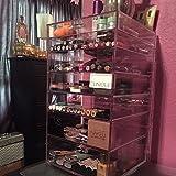 GlamoureBox Acrylic Cosmetic Cube Organizer Makeup Case 7-Drawer (A7R)