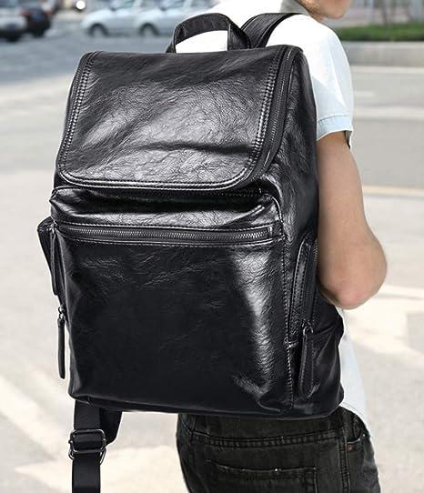 82de63b9a189 Amazon.com: RSQJ Men's Backpack Student Bag Travel PU Leather Large ...