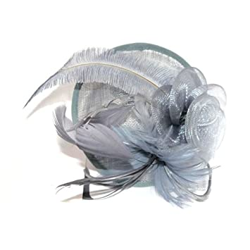 Amazon.com   STUNNING SILVER GREY HAIR FASCINATOR - UK - FOR HAIR -WITH  HEADBAND - WEDDINGS ACCESSORIES by topcats   Beauty c66a97ad566