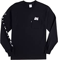 RIPNDIP Lord Nermal Long Sleeve T-Shirt - Black