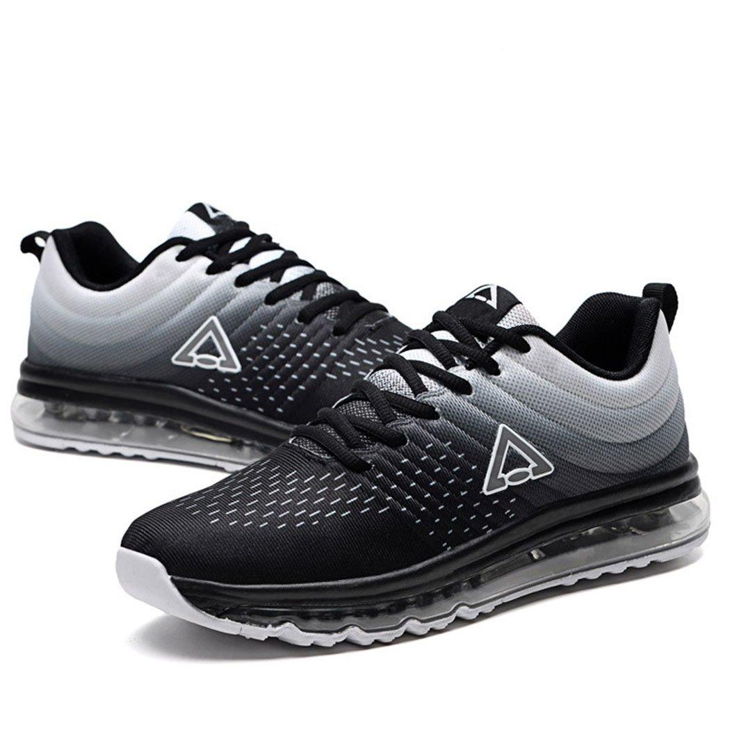 GAOLIXIA Zapatos deportivos transpirables para hombres Cojín de aire de verano Zapatos deportivos Ocio al aire libre Correr para correr Calzado deportivo Zapatos deportivos para caminar 42|Black white