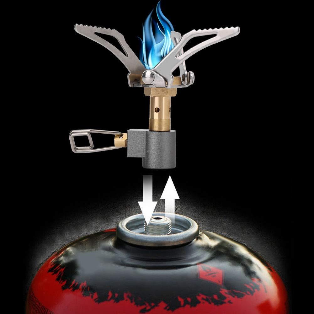 Dewin Mini Cocina Quemador-Port/átil Plegable al Aire Libre Quemador de Metal Estufa de Cocina de Gas de Camping Quemador de Horno para cocinar de Camping