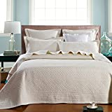 Calla Angel Saint Ivory Luxury Pure Cotton Quilt, King, Ivory