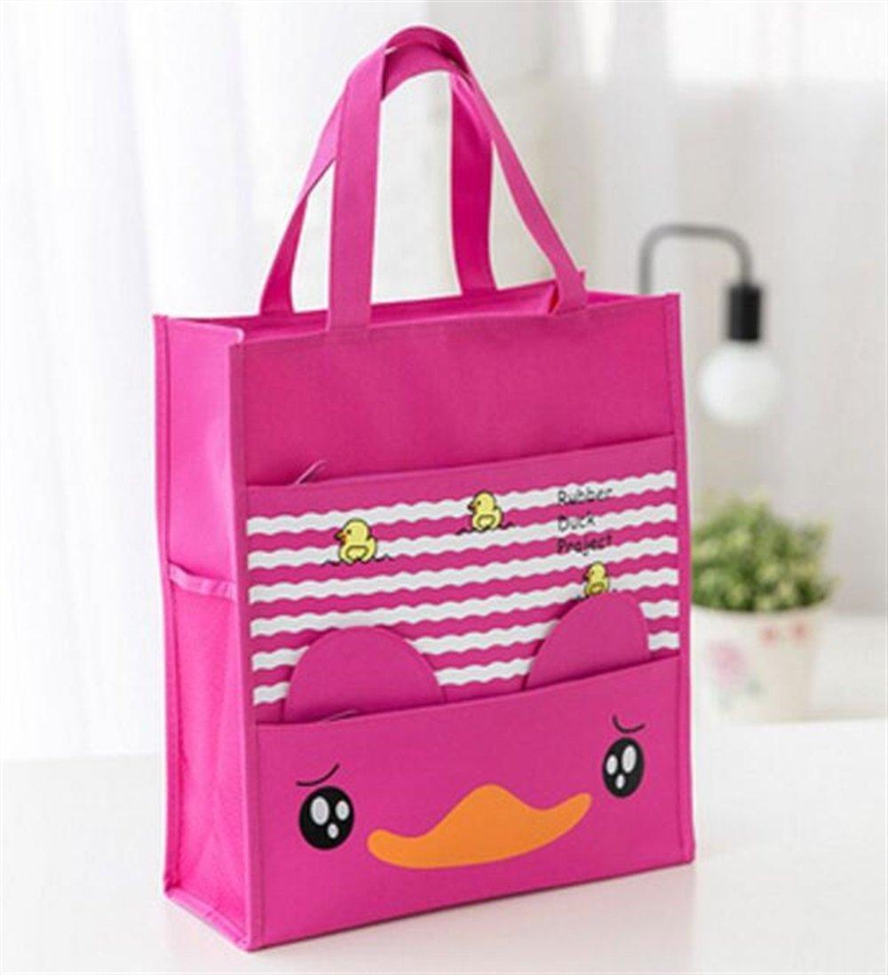 Womens Stylish Tote Bag Handbag Rose Red Duck Cute Waterproof Canvas Primary Schoolbag Art Bag Small File Handbag Tutorial Bag Tote Bag