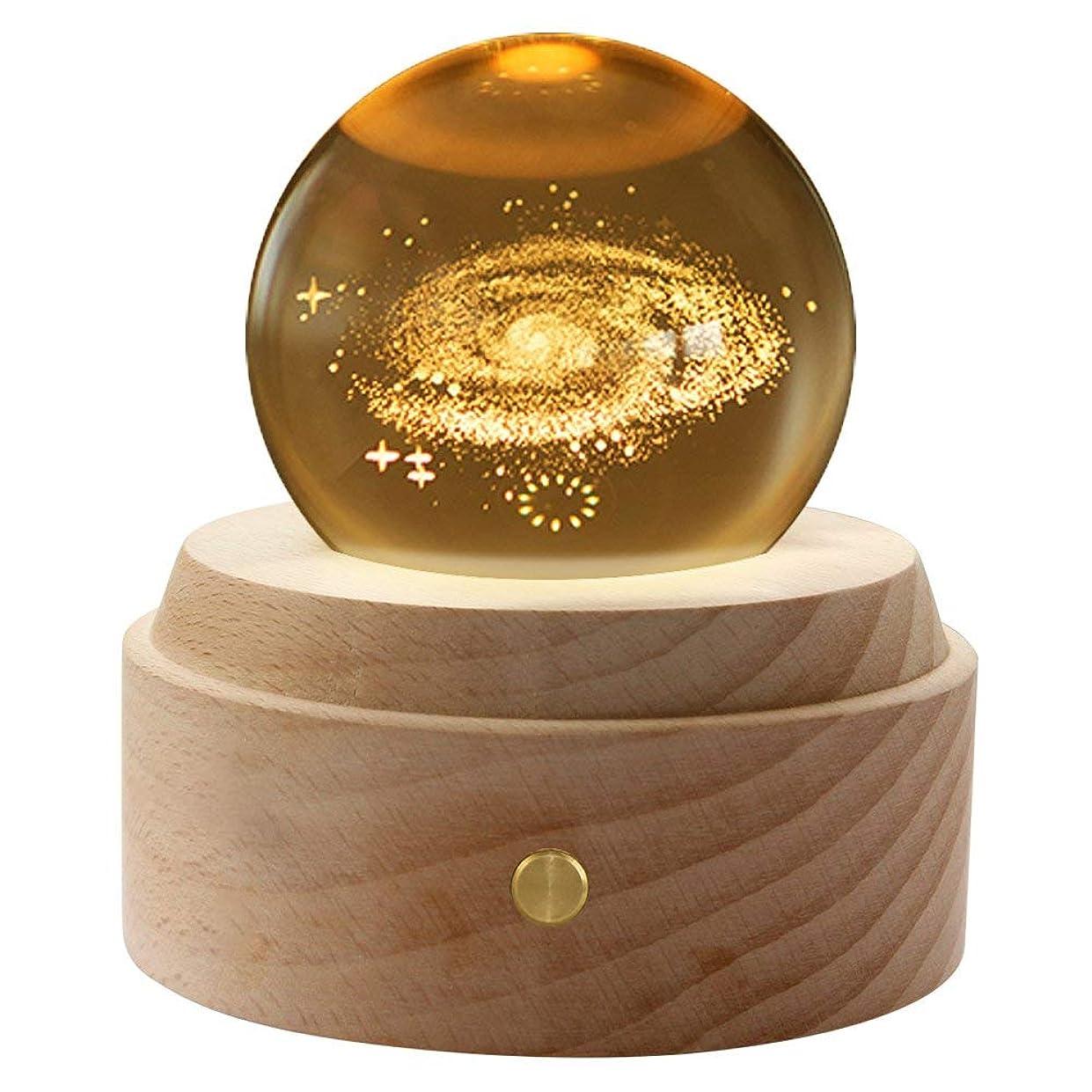 おもちゃ沈黙球体オルゴール ミュージカルボック 誕生日プレゼント 装飾 木製のクラフト スハート型
