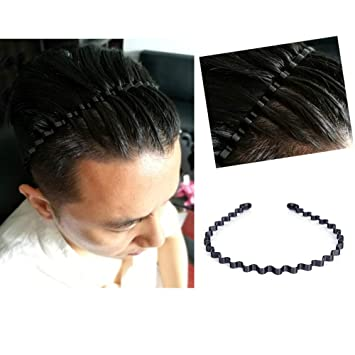 Fantastic Amazon Com Mens Slicked Back Headband Outdoor Sports Fashion Natural Hairstyles Runnerswayorg