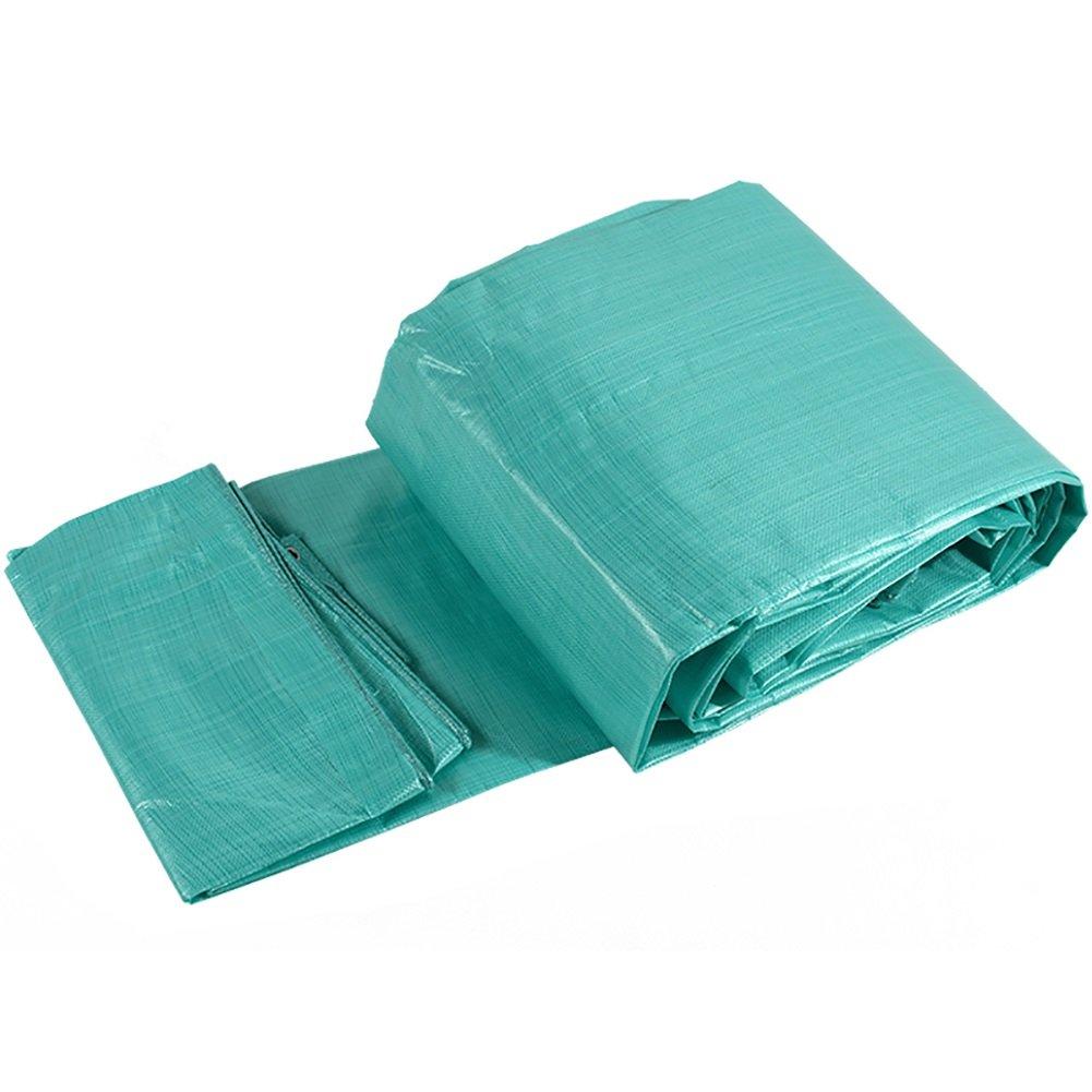 グリーンターポリン防水両面PEコーティング防雨布キャンバス車ローリータープシェード天幕布 (サイズ さいず : 8 * 10M) B019Q358UI 8*10M  8*10M