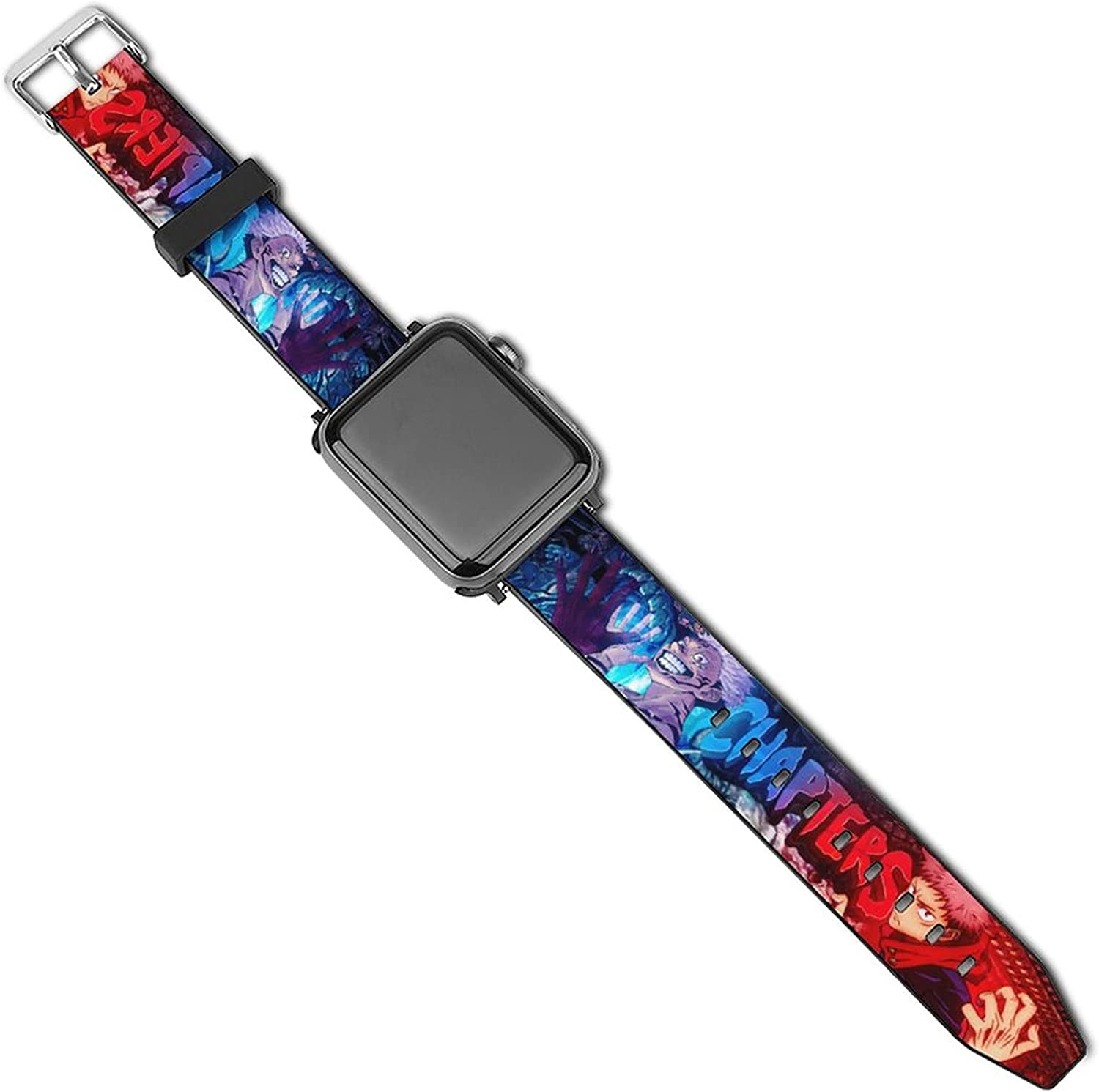 Jujutsu Kai_sen Apple Watch Leather Band 38mm/40mm,42mm/44mm soft Leather Wristband leather Anime Fans Strap Compatible with iWatch SE & Series 6 & Series 5 4 3 2 1