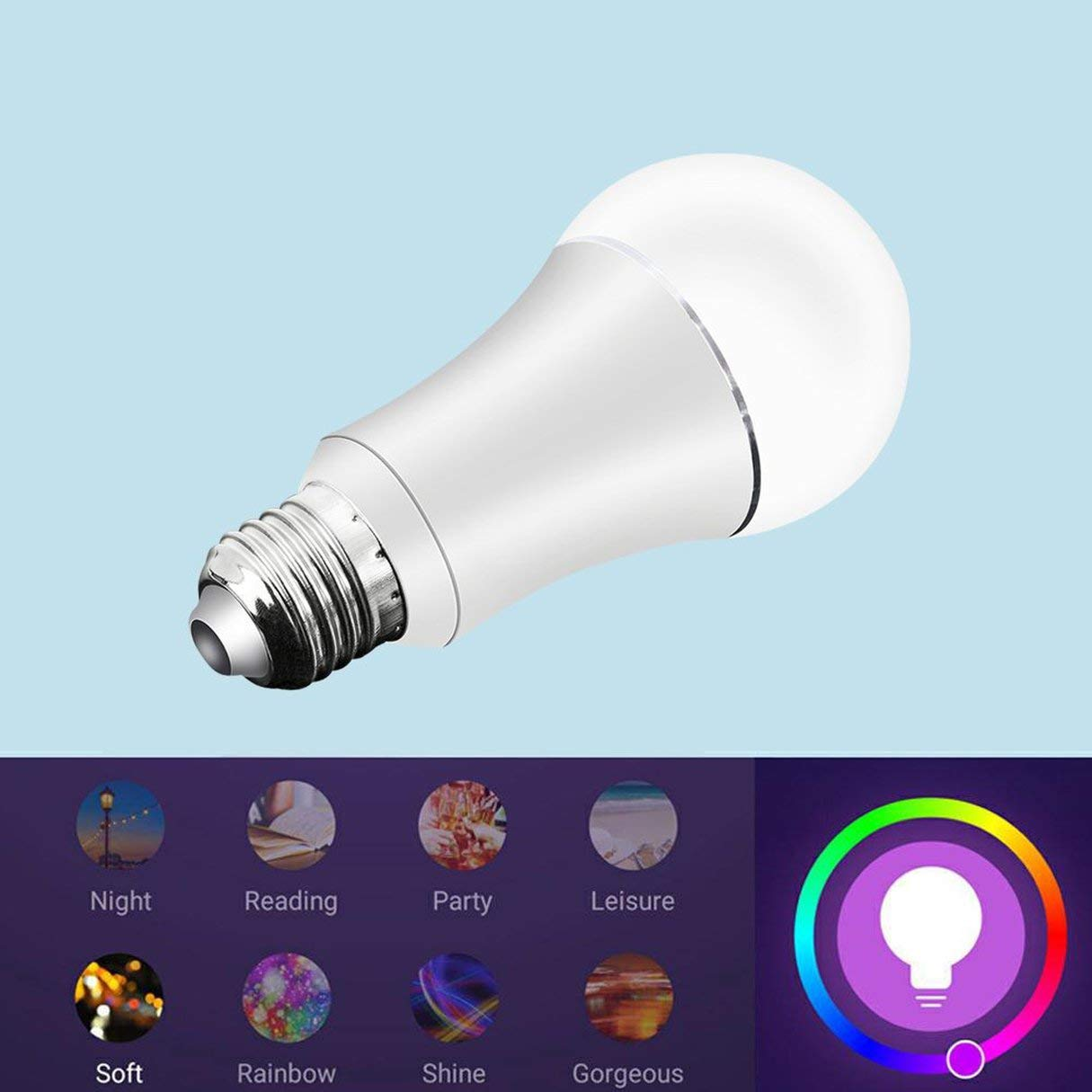 Bombilla LED inteligente WiFi inal/ámbrica E27 compatible con Alexa Google home 7W EQ0104101 productos de cuidado personal de salud y belleza