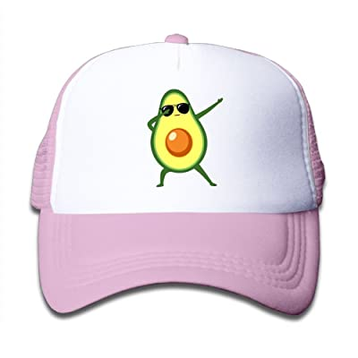 TYOW-ZL Child Cool Avocado Breathable Fashion Adjustable Mesh Hat Trucker Hat
