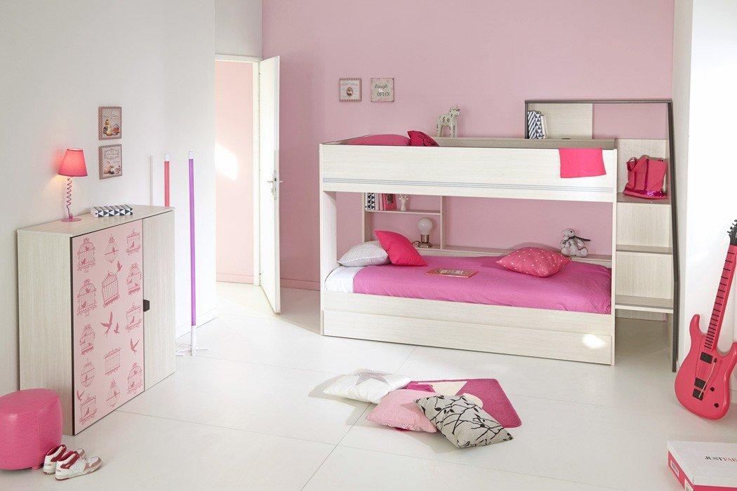 Etagenbett Hochbett Doppelstockbett : Kinderzimmer grace 14 esche nb etagenbett doppelstockbett stockbett