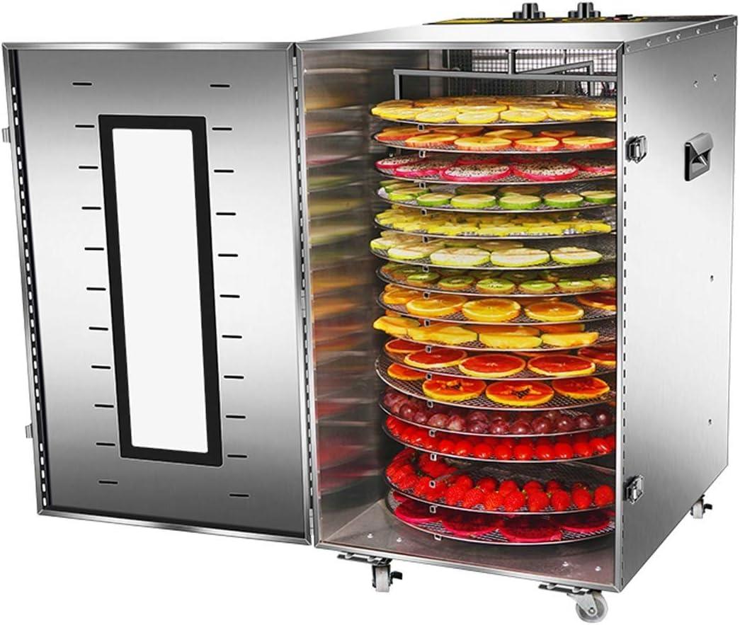 MiMiya D/éshydrateur Alimentaire D/éshydrateur de Viande s/éch/ée 6 Plateaux dacier Inoxydable Machine /électrique deshydrateur d/éshydrateur D/éshydrateur de l/égume de Fruit