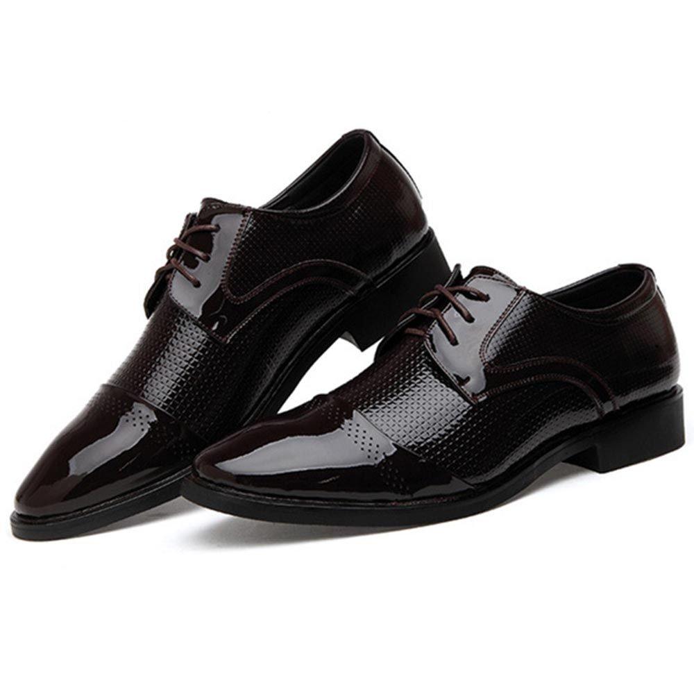 WLFHM Frühling Herrenschuhe Fett Herrenschuhe Schuhe Breiten Kopf Fett Herrenschuhe Schuhe Braun 5485e8