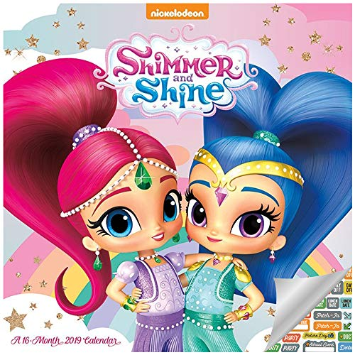 Shimmer and Shine Calendar 2019 Set - Deluxe 2019 Shimmer and Shine Wall Calendar with Over 100 Calendar Stickers (Shimmer and Shine Gifts, Office ()