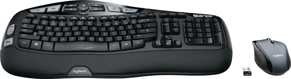 Logitech MK570 Comfort Wave Wireless Keyboard and Optical Mouse by By Logitech
