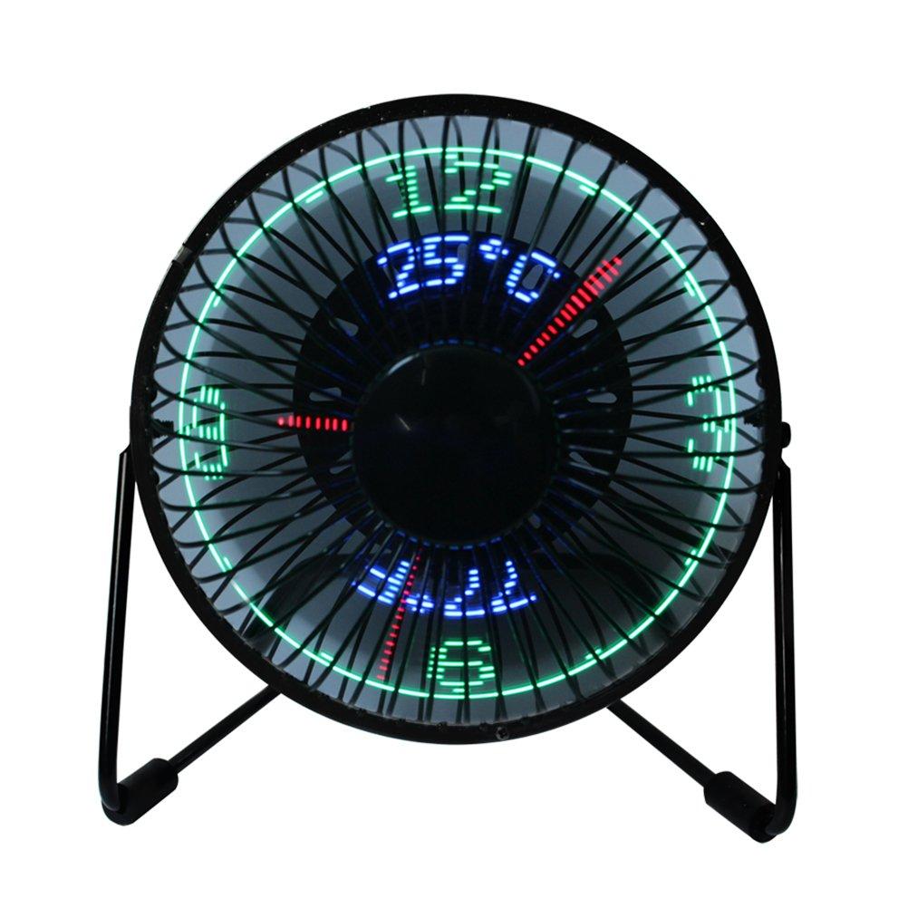 Red5 Desktop LED Clock Fan.