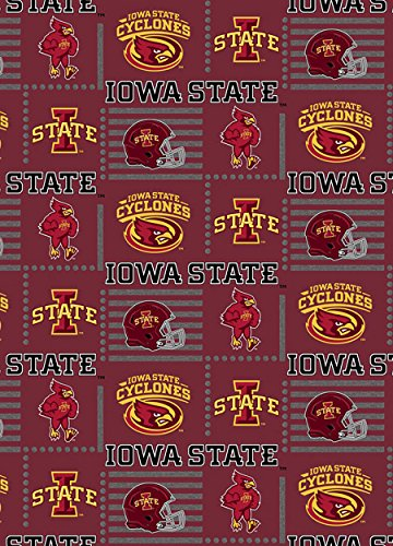 IOWA STATE COTTON FABRIC-NEWEST DESIGN-OFFICIALLY ()