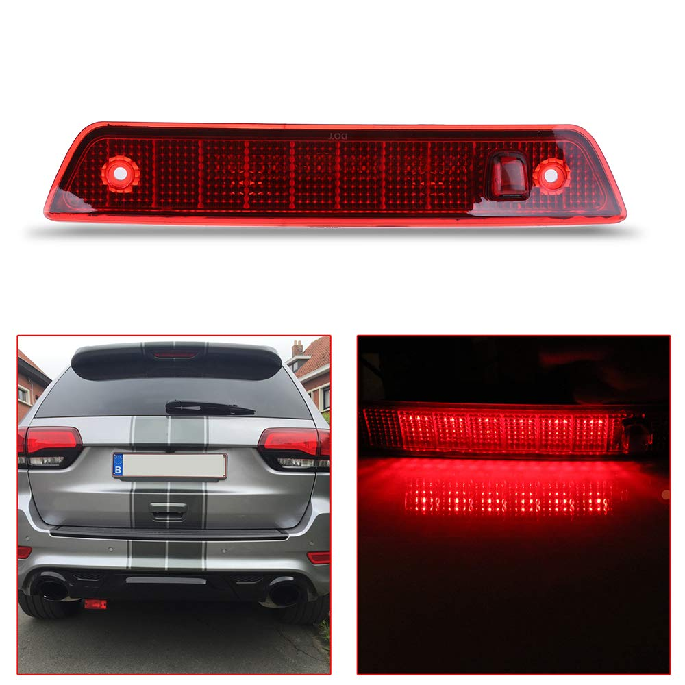 OCPTY Third 3rd High Mount Brake Light LED 3rd Light Replacement Rear Roof Light for 2005-2010 Jeep Grand Cherokee
