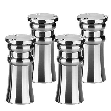 ZYFA Patas para Muebles,Altura Regulable Pata de Muebles Aleación de Aluminio,Metal de Mesa piernas,para mesas de Comedor, mesas de café, sofás, ...