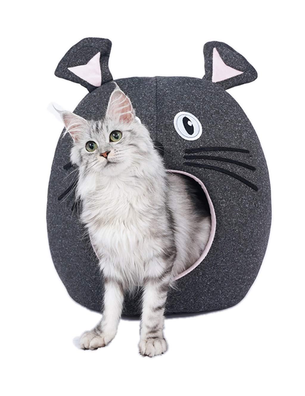 Cat Bed   Creative Cartoon Cat Bed   Semi-Closed Pet Nest Soft & Comfy Pet Supplies, 12.9  X 9.9 , Suitable for Small Pets