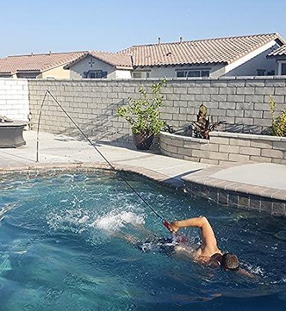 Amazon.com : Swim Tether Low-Impact Stationary Swimming Exercise ...