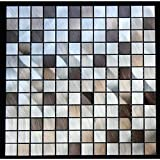 Legion Furniture Mixed Aluminum Squares Wall Tile (Pack of 1 or 11) 11