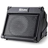 Acoustic Guitar Amplifier, 40 Watt Portable Rechargeable Amp for Guitar Acoustic with Bluetooth, 3 Channel, 2 Band EQ with Reverb, Black