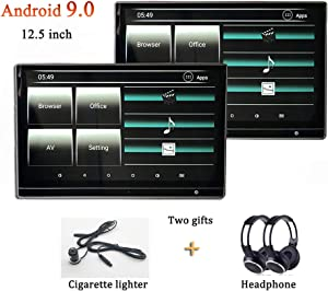 Include Headphone Car TV Android Monitor 12.5 Inch for Range Rover Headrest Video Player Back Seat Entertainment System WiFi USB Dongle with HDMI