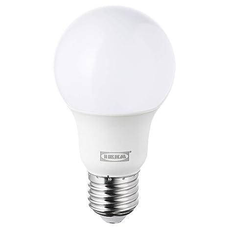 IKEA LEDARE E27 - Bombilla LED regulable (600 lúmenes, 5000 K, luz fría