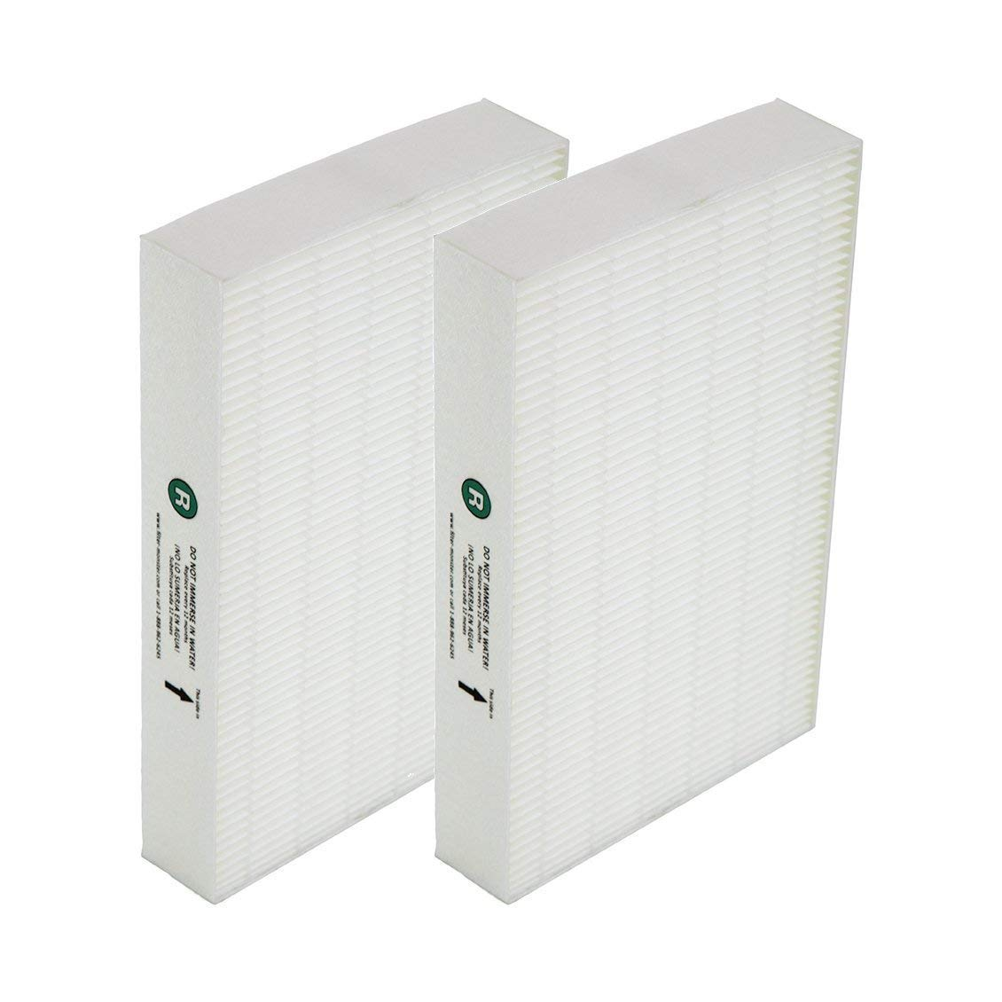 Breathe Naturally Replacement For Honeywell True HEPA Filter R 2-pack HRF-R2
