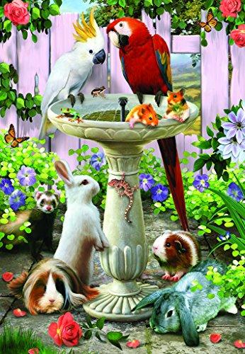SunsOut Bird Bath 100 pc Jigsaw Puzzle