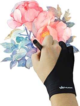 Huion Artist Guante de dibujo para dibujo, para tableta, caja de luz, almohadilla de luz, tamaño libre que evita las manchas: Amazon.es: Electrónica