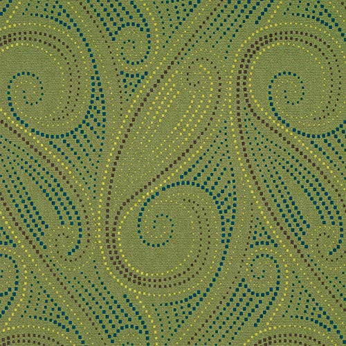- Jungle Green Paisley Print Pattern Dots Circles Wide Width Prints Environment Plus Green Upholstery Fabric by the yard