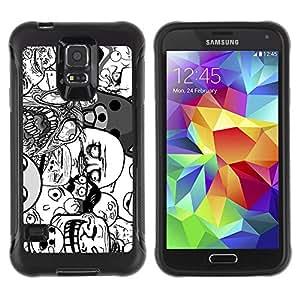 ZAKO Cases / Samsung Galaxy S5 SM-G900 / Funny 9GAG Meme Faces / Robusto Prueba de choques Caso Billetera cubierta Shell Armor Funda Case Cover Slim Armor