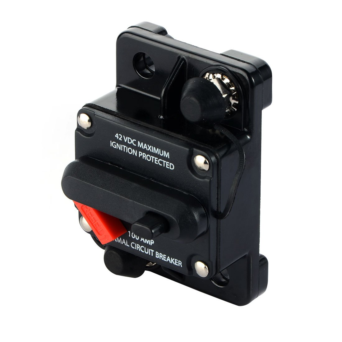 50 Amp Waterproof Car Auto Circuit Breaker Fuse Trolling with Manual Reset 12V-42V DC MeiBoAll