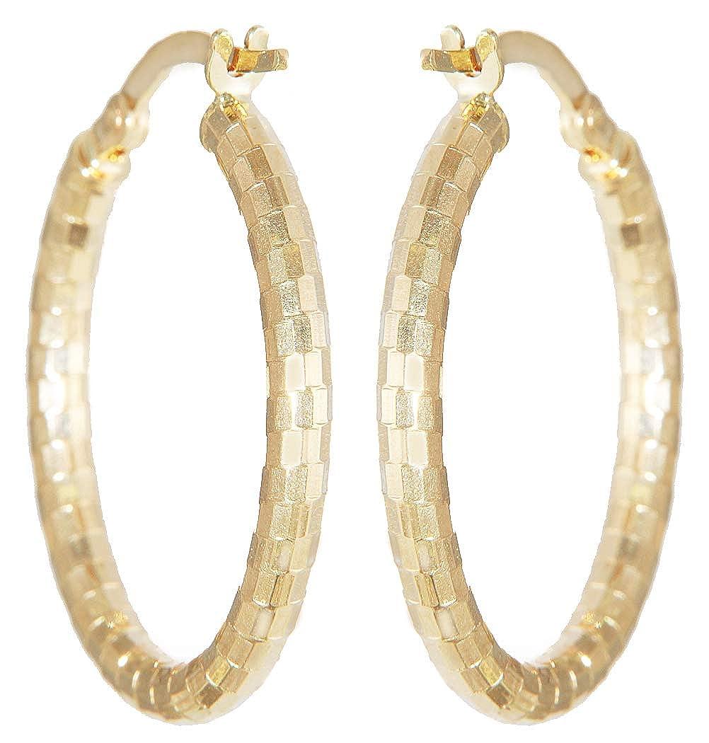 Ovale Ohrstecker Gold 585 Zirkonias funkelnde Ohrringe Damen Ohrschmuck 14 Karat