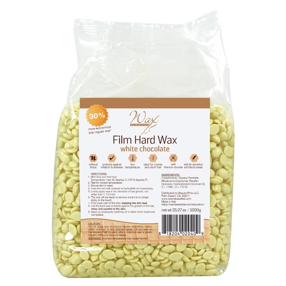 Wax Necessities Film Hard Wax White Chocolate Scented 35.27oz (1000g)