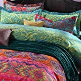Luxury Bohemian Exotic Style Bedding Pillow Cove 2- Piece Pattern1