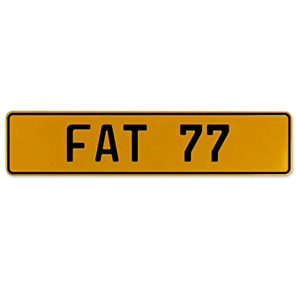 Fat 77 Vintage Parts 559624 Yellow Stamped Aluminum European Plate