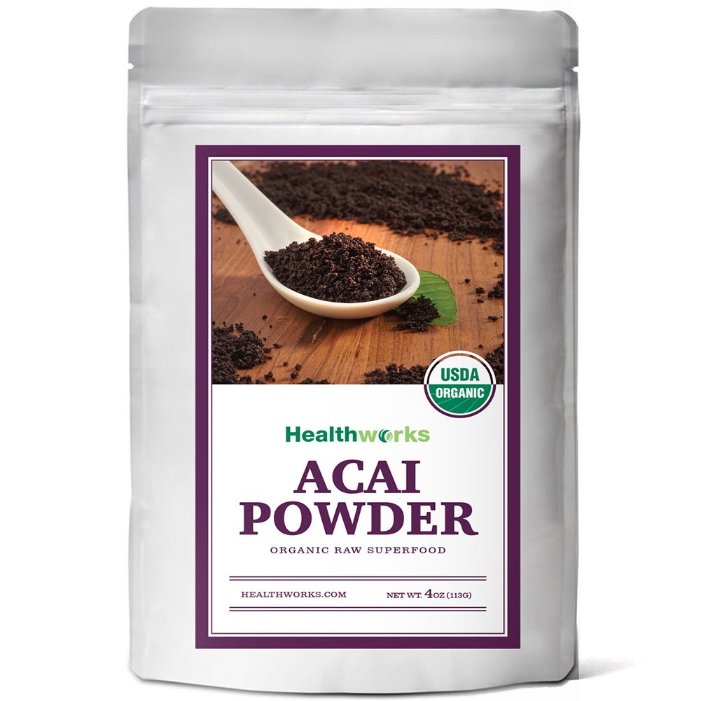 Healthworks Acai Berry Powder Freeze-Dried Organic, 4oz