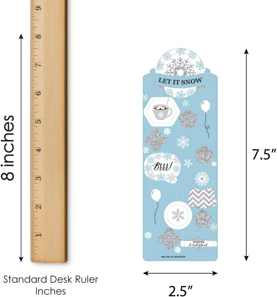Big Dot of Happiness Winter Wonderland 16 Sheets Snowflake Holiday Party and Winter Wedding Favor Kids Stickers 256 Stickers