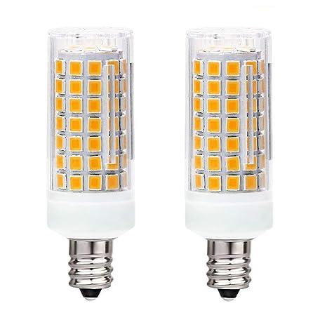 E11 Led Bulb Dimmable Replace 100w 75w Halogen Bulb Warm White 3000k Mini Candelabra Base Bulb T4 E11 7 5w 110v 120v 130v Chandelier Bulb Ceiling