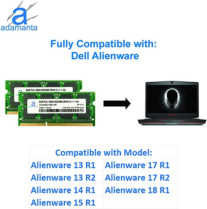NEW 8GB Memory Module PC3-12800 SODIMM For Alienware Laptop 17 R2
