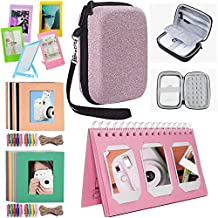 Katia Sprocket Portable Photo Printer Accessories Kit for HP X7N07A, Polaroid ZIP Mobile Printer/Print Social Media Photos on 2x3 Sticky with Hard Shell Case, Calendar Album, Frames - Rosa