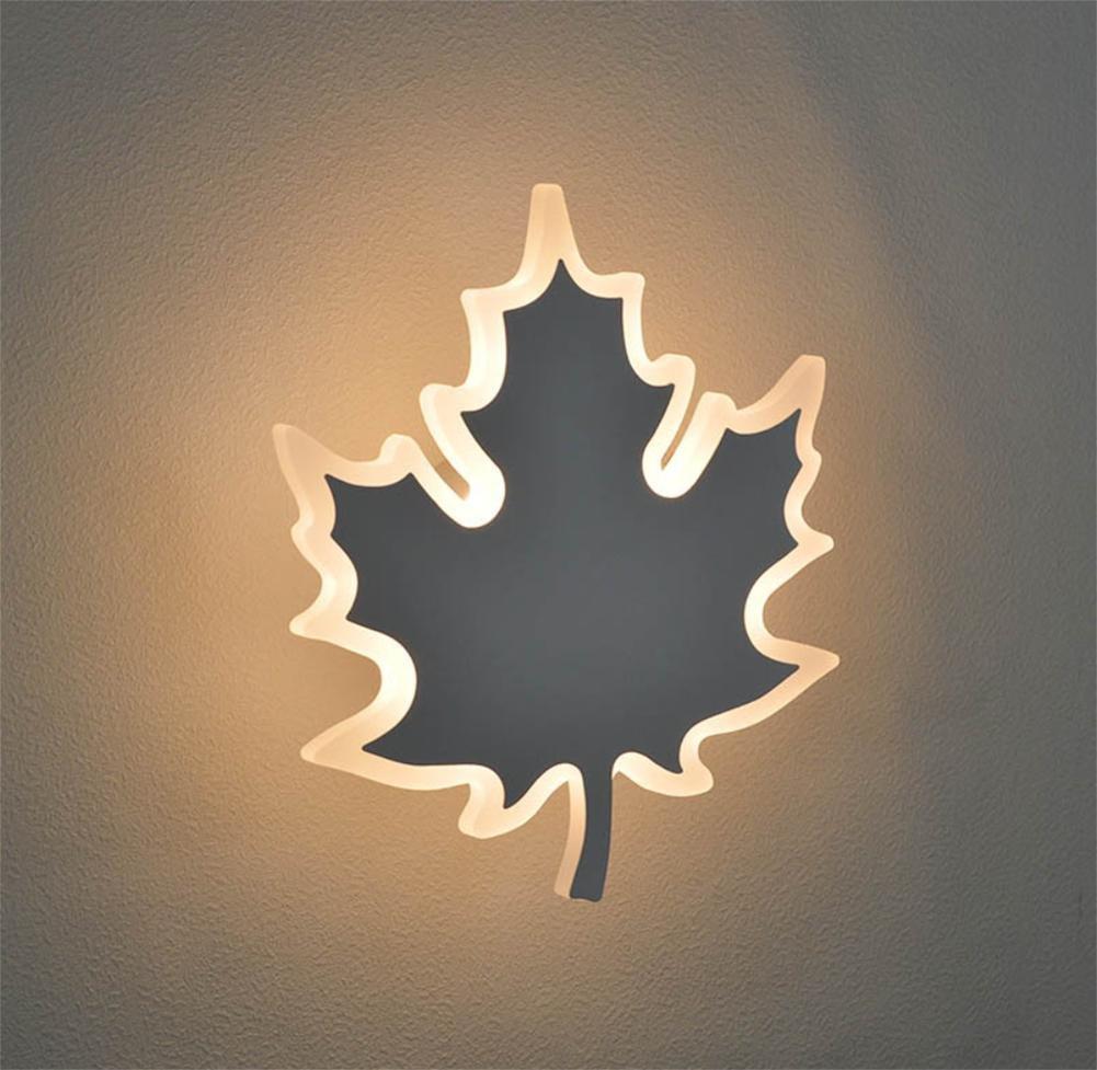 JL Wandlampe LED Blätter Blattform Wohnzimmer Schlafzimmer Garnierung Wandbehang Leuchte Modern Einfach 130-265V 6W, grau