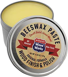 Interstate WoodWorks Beeswax Paste Wood Finish & Polish - 6.25 oz.