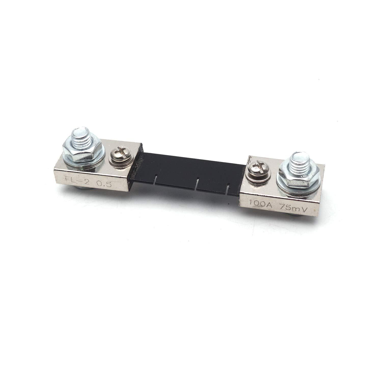 Antrader 2-Pack 50A 75mV DC Current Measuring Shunt Resistor Analogue Digital Meter for DC Current Measure
