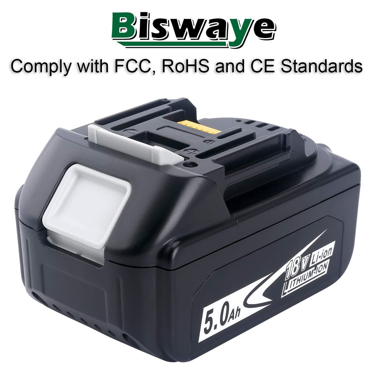 18V 5.0AH Battery for Makita BL1860B BL1850B BL1840B BL1830B with LED Indicator